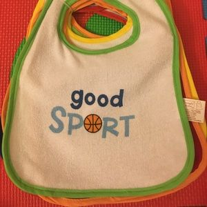 Snugly Baby 9 Pieces Waterproof Backing Bibs
